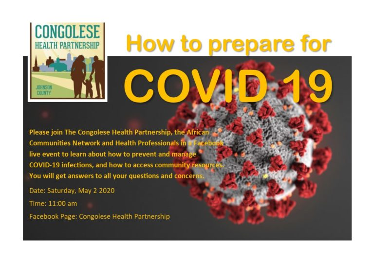 Flyer on how to prepare for COVID-19 in English